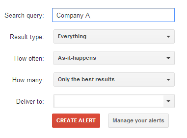Google Alerts to Land a Job